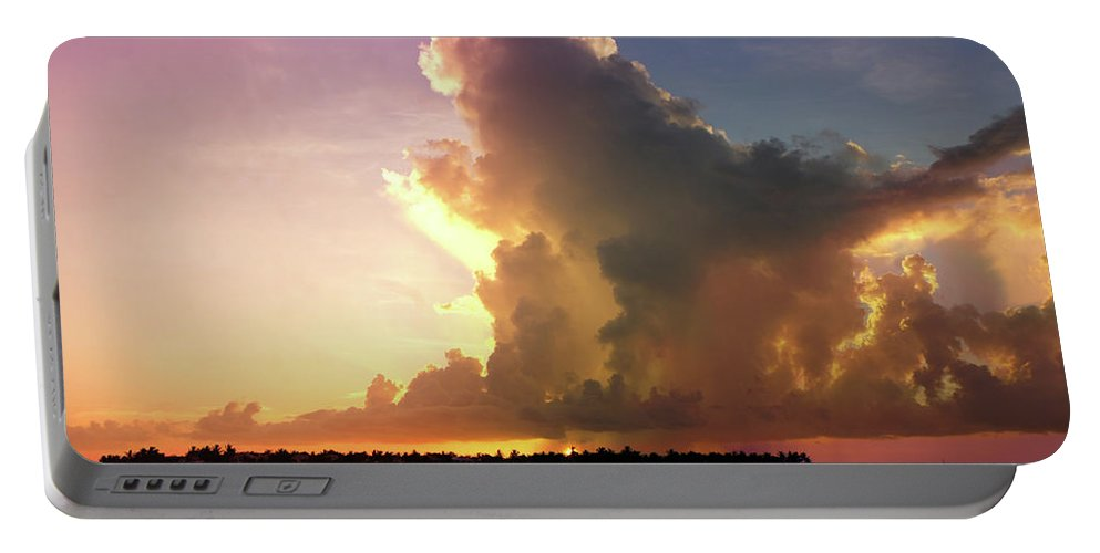 Key West Portable Battery Charger featuring the photograph Key West Sunset by Art Spectrum