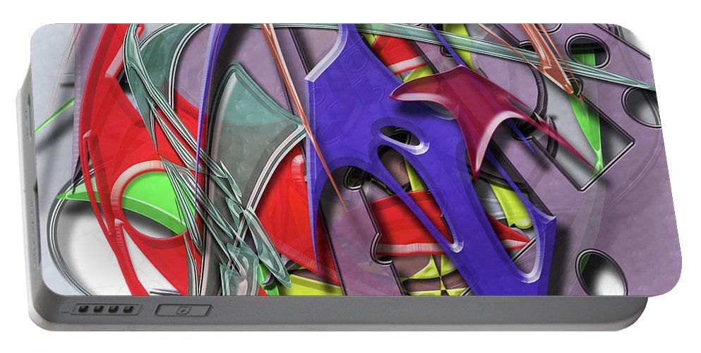 Keys Portable Battery Charger featuring the digital art Keys by Warren Lynn