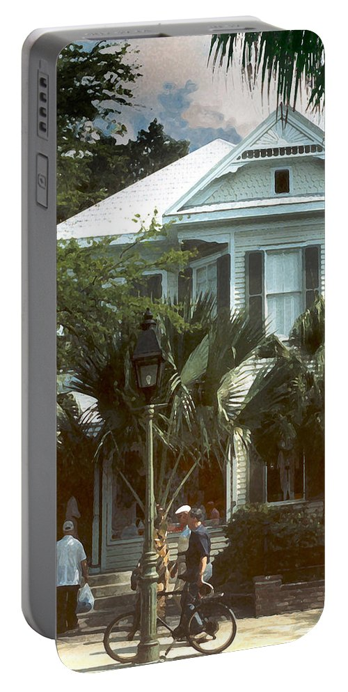 Historic Portable Battery Charger featuring the photograph Keywest by Steve Karol