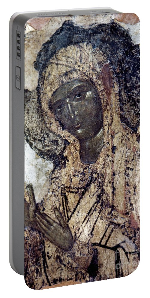 14th Century Portable Battery Charger featuring the photograph Khalkopratiyskaya Virgin by Granger
