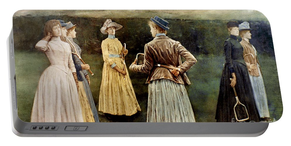 1889 Portable Battery Charger featuring the photograph Khnopff: Memoires, 1889 by Granger