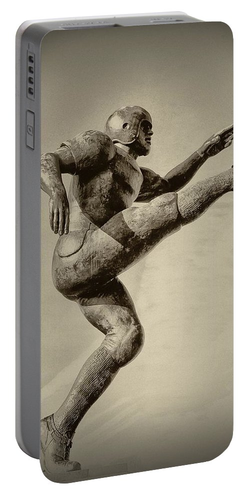 Football Portable Battery Charger featuring the photograph Kick Off by Bill Cannon