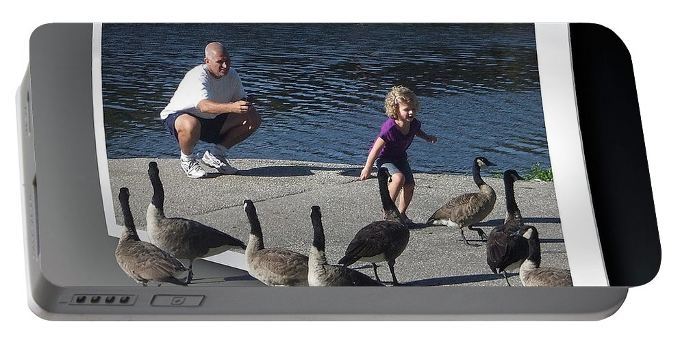 2d Portable Battery Charger featuring the photograph Kids Will Be Kids 2 by Brian Wallace