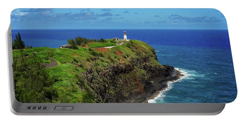 Landscape Portable Battery Charger featuring the photograph Kilauea Lighthouse by James Eddy