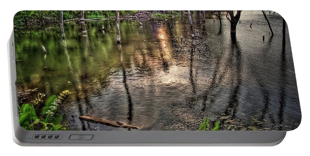 Hdr Portable Battery Charger featuring the photograph Kill Creek 8283 by Timothy Bischoff