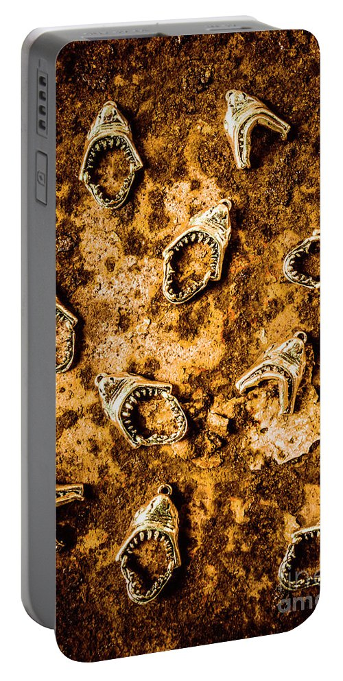 Shark Portable Battery Charger featuring the photograph Killer Shark Jaws by Jorgo Photography - Wall Art Gallery