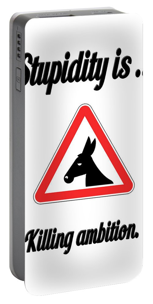 Funny Portable Battery Charger featuring the digital art Killing Bigstock Donkey 171252860 by Mitchell Watrous