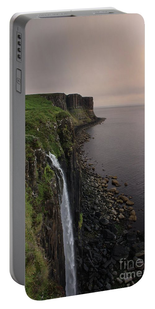 Scotland Portable Battery Charger featuring the photograph Kilt Rock At Dusk by Jacqui Hall