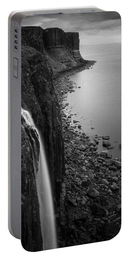 Kilt Rock Portable Battery Charger featuring the photograph Kilt Rock Waterfall by Dave Bowman