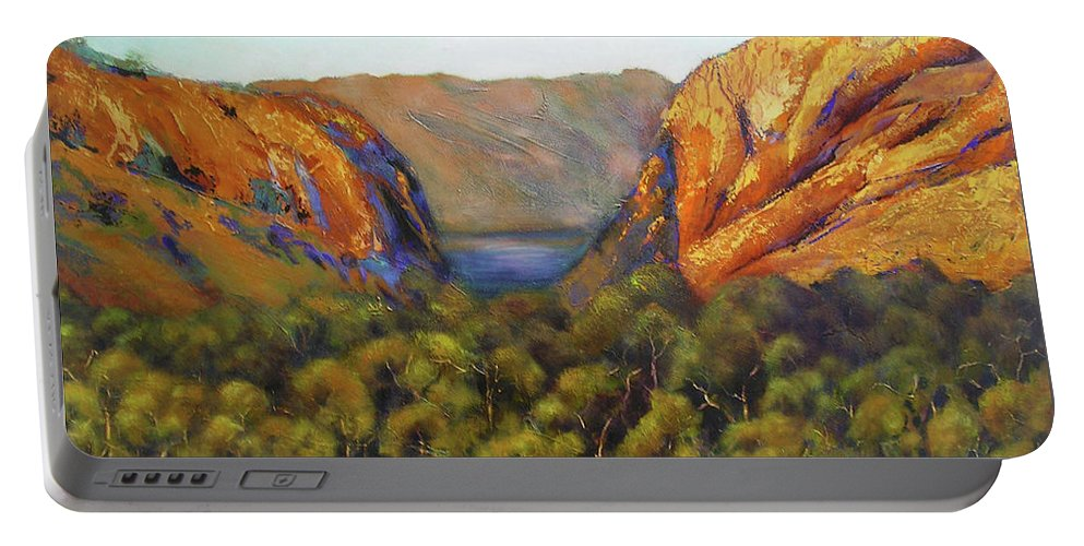 Landscape Portable Battery Charger featuring the painting Kimberley Outback Australia by Chris Hobel