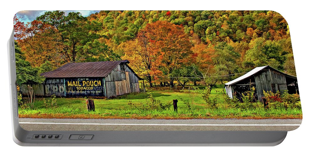 West Virginia Portable Battery Charger featuring the photograph Kindred Barns by Steve Harrington