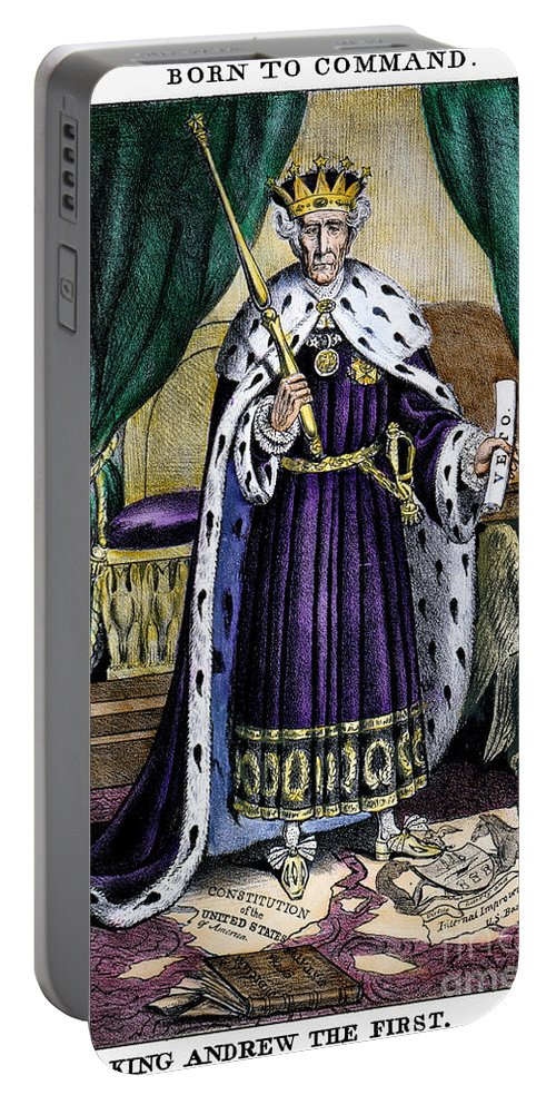 1832 Portable Battery Charger featuring the photograph King Andrew The First by Granger