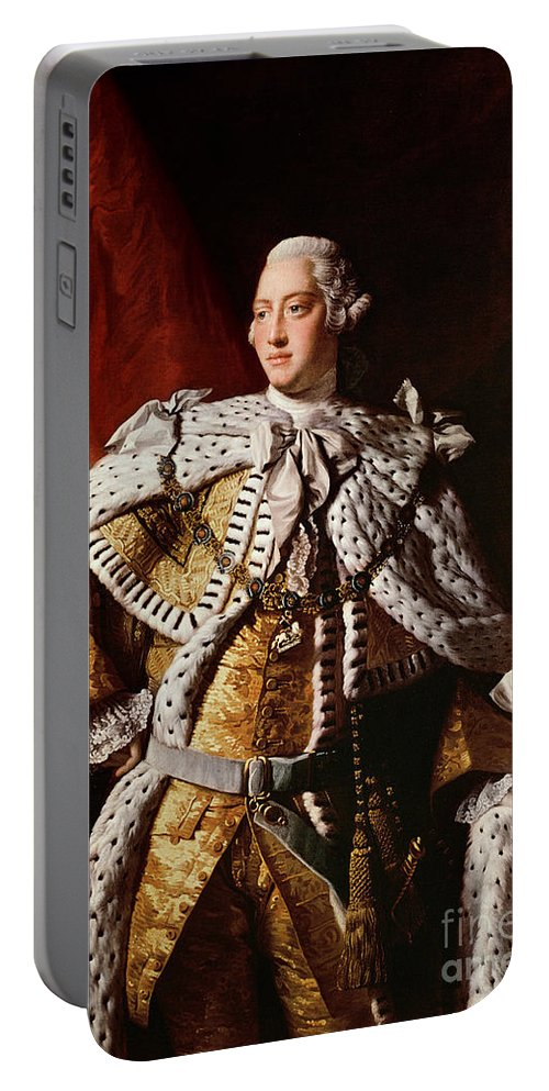 King Portable Battery Charger featuring the painting King George IIi by Allan Ramsay