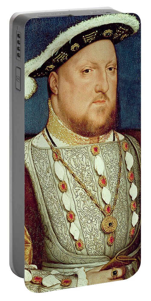 King Portable Battery Charger featuring the painting King Henry Viii by Hans Holbein