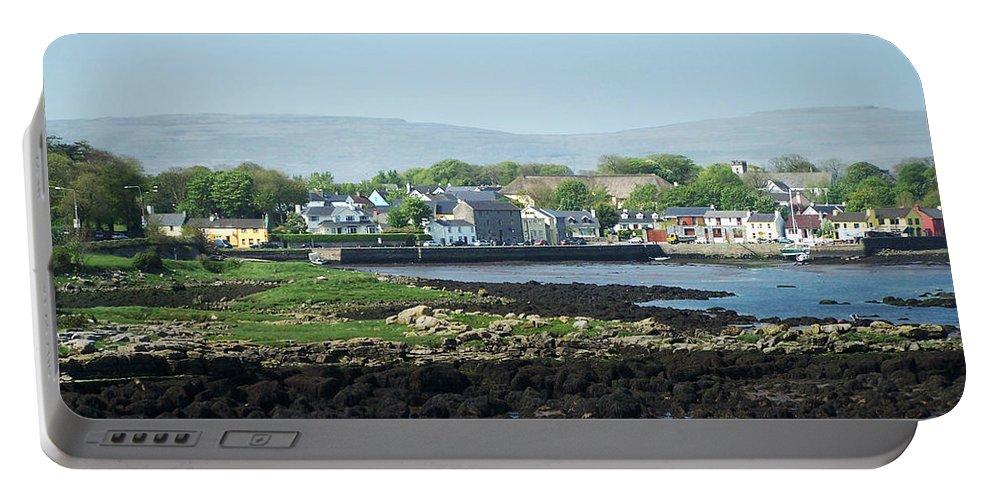 Irish Portable Battery Charger featuring the photograph Kinvara Seaside Village Galway Ireland by Teresa Mucha