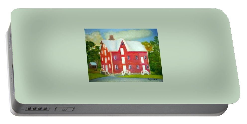Kirby Mill Portable Battery Charger featuring the painting Kirby's Mil by Sheila Mashaw