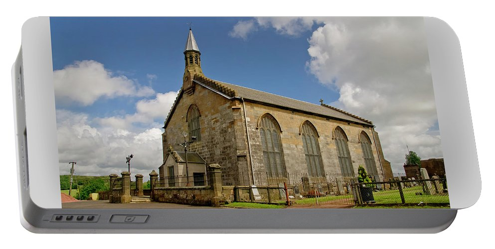 Kirk Of Shotts Portable Battery Charger featuring the photograph Kirk Of Shotts. North Lanarkshire. by Elena Perelman