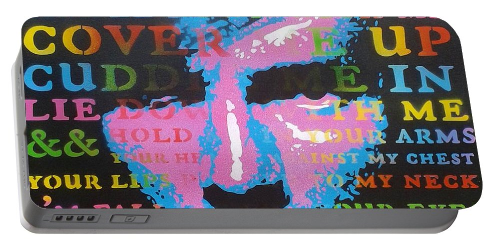 Kiss Me Portable Battery Charger featuring the painting Kiss Me by Leon Keay