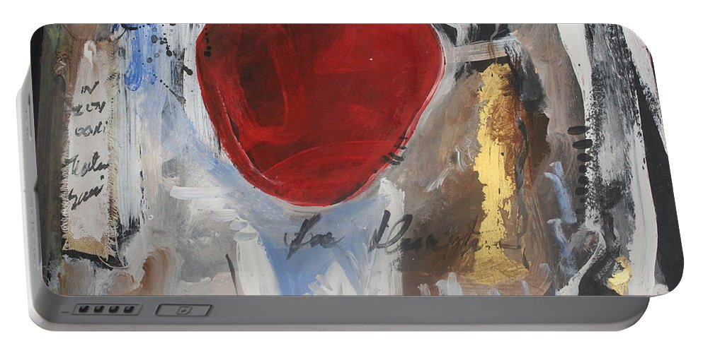 Heart Portable Battery Charger featuring the painting Kiss My Heart by Carmem Gusmao