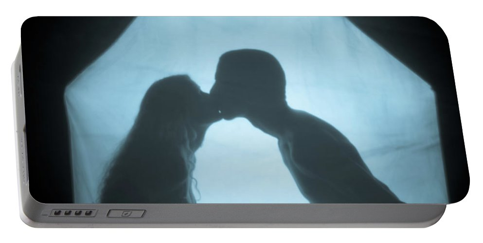 Kissing Portable Battery Charger featuring the photograph Kissing by Scott Sawyer