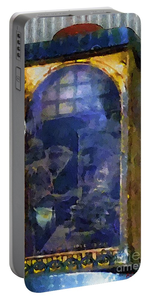 Advertising Portable Battery Charger featuring the painting Kitchen Alchemy by RC DeWinter