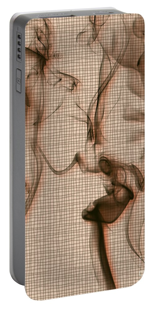 Clay Portable Battery Charger featuring the digital art Kitchen Problems by Clayton Bruster