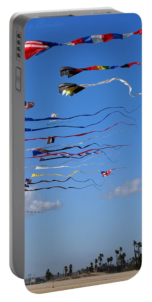 Clay Portable Battery Charger featuring the photograph Kite Season by Clayton Bruster