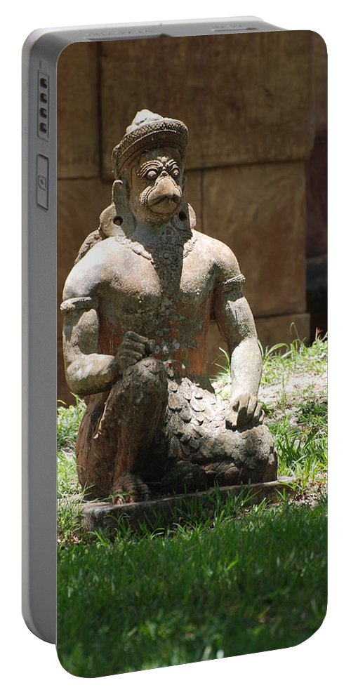 Animal Portable Battery Charger featuring the photograph Kneeling Monkey by Rob Hans