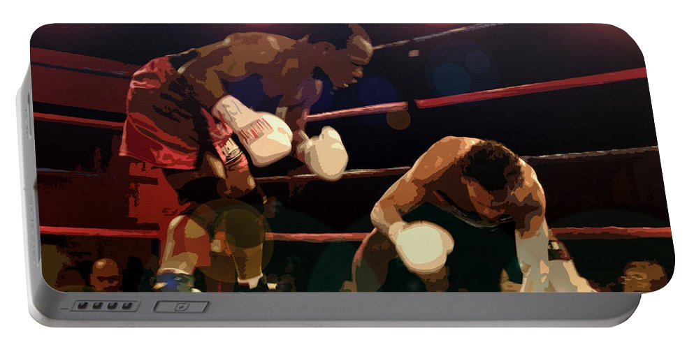 Artwork Portable Battery Charger featuring the painting Knockdown by David Lee Thompson