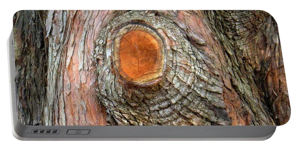 Tree Portable Battery Charger featuring the photograph Knot by Ian MacDonald