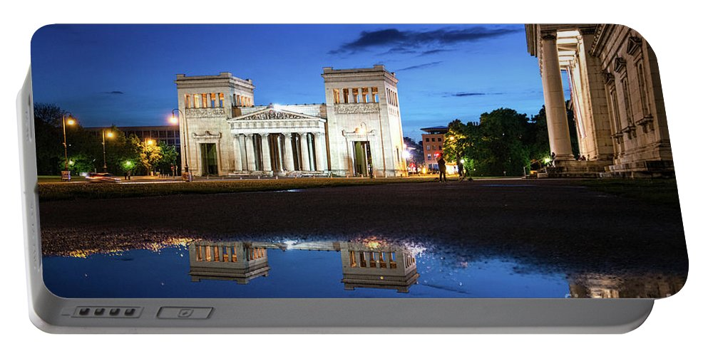 Bavaria Portable Battery Charger featuring the photograph Koenigsplatz - After The Rain by Hannes Cmarits