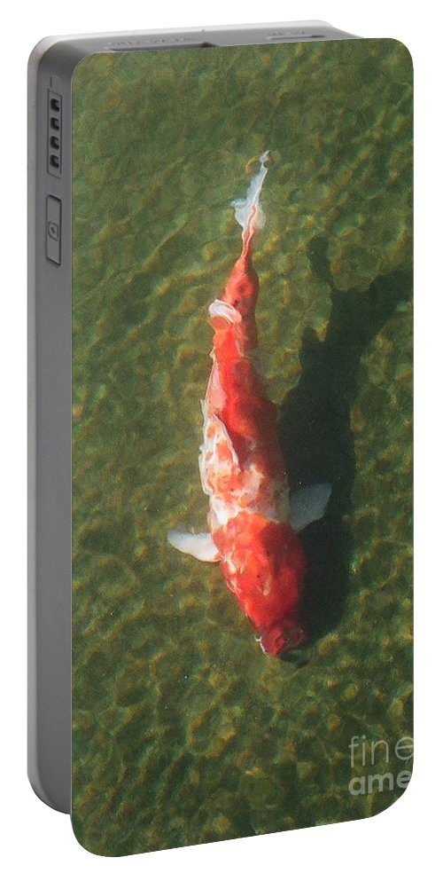 Koi Portable Battery Charger featuring the photograph Koi by Dean Triolo