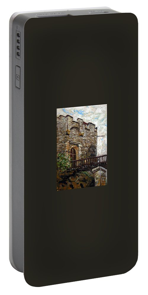 Landscape Portable Battery Charger featuring the painting Kokorin by Pablo de Choros
