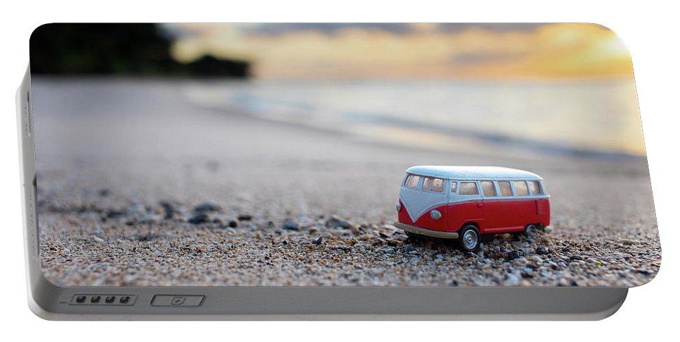 Kombi Beach Portable Battery Charger featuring the photograph Kombi Beach by Sean Davey