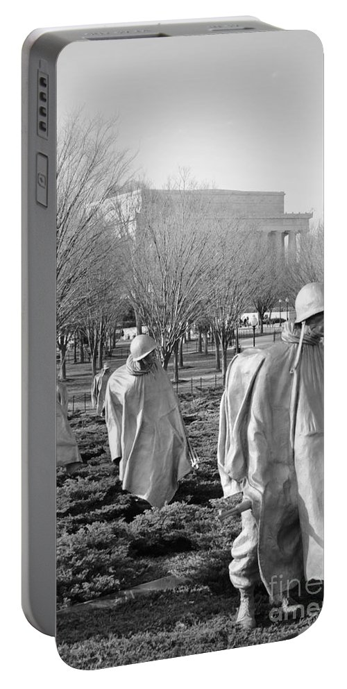 Korean Portable Battery Charger featuring the photograph Korean War Memorial by Jost Houk