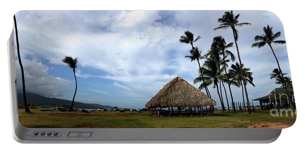 Aloha Portable Battery Charger featuring the photograph Kukulu Hale Kahului Maui Hawaii Panorama by Sharon Mau