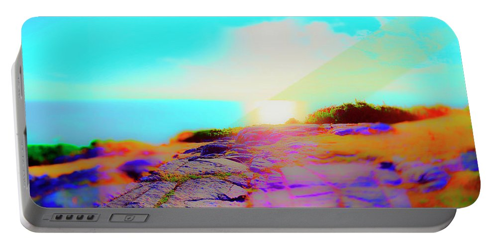 Flowers Portable Battery Charger featuring the photograph Kullen Sunset by Jan W Faul
