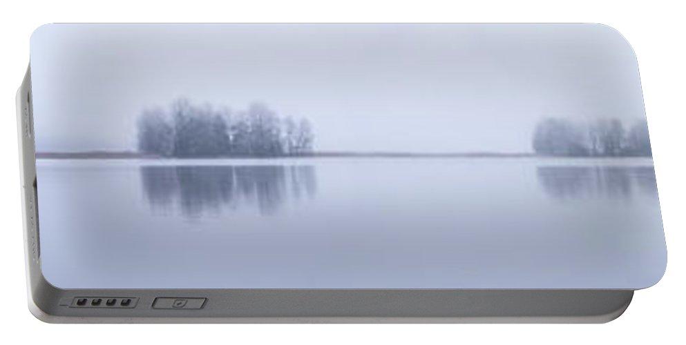 Lehtokukka Portable Battery Charger featuring the photograph Kulovesi Morning by Jouko Lehto