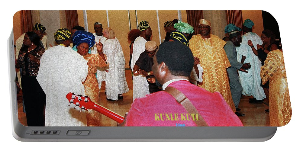Rocking The Partee Portable Battery Charger featuring the photograph Kunle Kuti Live by Kehinde Thompson