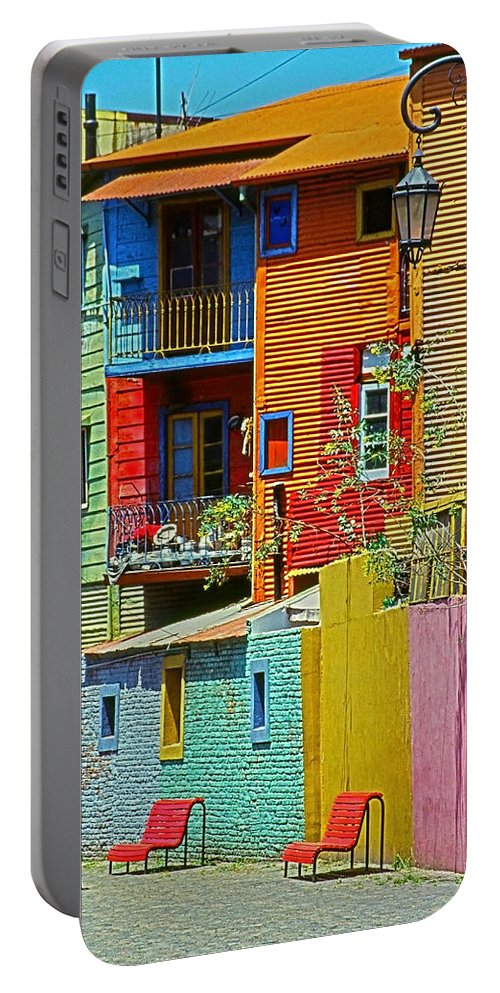 South America Portable Battery Charger featuring the photograph La Boca - Buenos Aires by Juergen Weiss