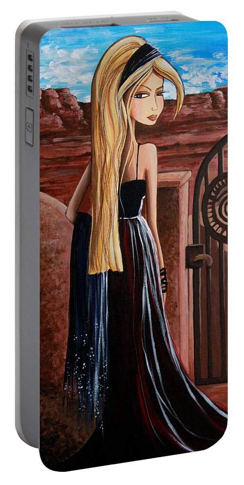 La Entrada Portable Battery Charger featuring the painting La Entrada by Debbie Horton