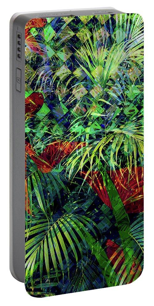 Jungle Portable Battery Charger featuring the digital art La Jungla #1 by Joam Bigelow