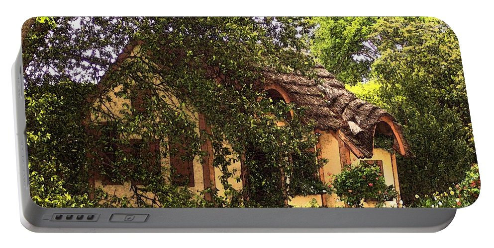 Cottage Portable Battery Charger featuring the photograph La Maison by Debbi Granruth