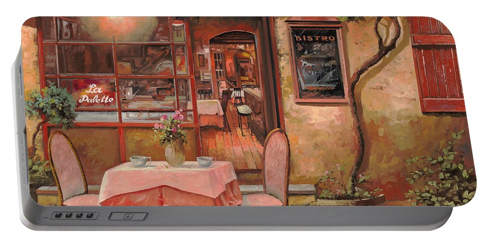 Caffe Portable Battery Charger featuring the painting La Palette by Guido Borelli