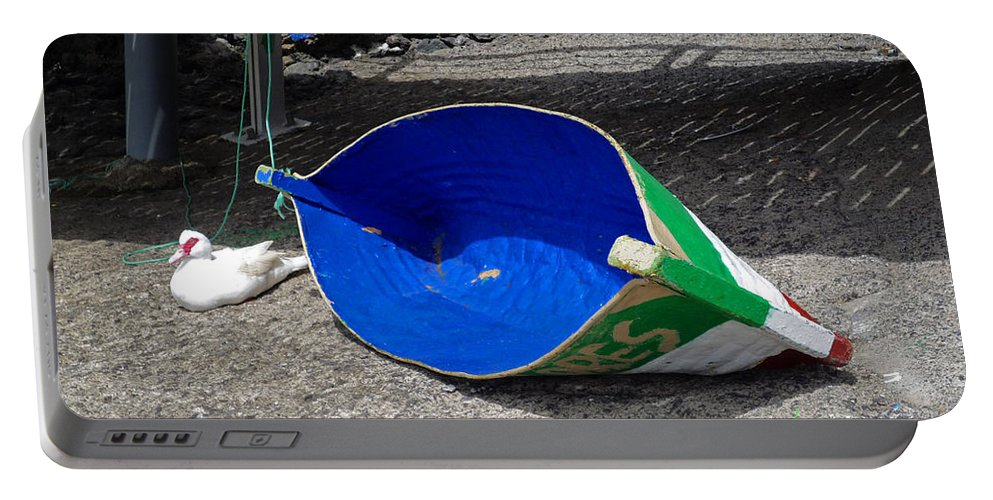 Boat Portable Battery Charger featuring the photograph La Tinosa by Charles Stuart