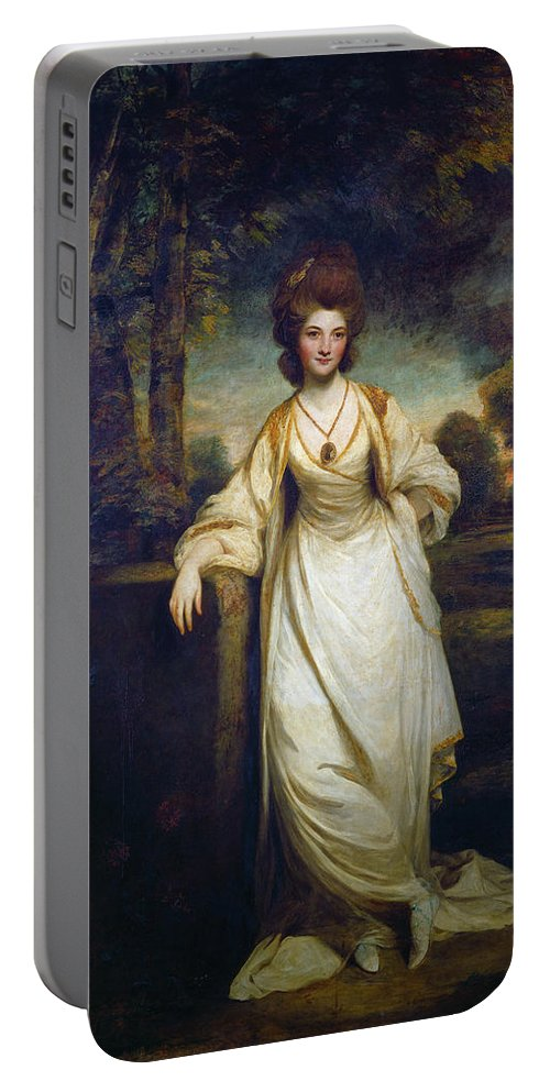 British Portable Battery Charger featuring the painting Lady Elizabeth Compton by Joshua Reynolds