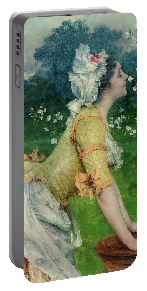 Francesco Vinea (italian Portable Battery Charger featuring the painting Lady by MotionAge Designs