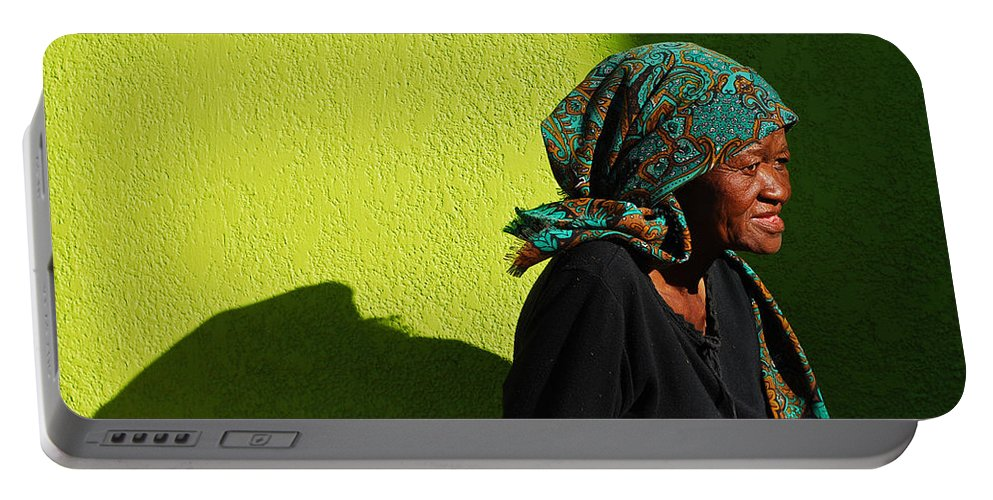Africa Portable Battery Charger featuring the photograph Lady In Green by Skip Hunt