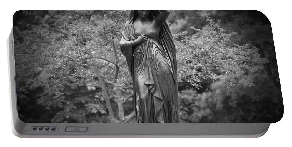 Philadelphia Portable Battery Charger featuring the photograph Lady In The Garden 2 by Bill Cannon