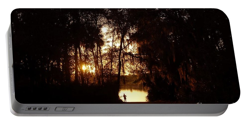Lake Portable Battery Charger featuring the photograph Lady Of The Lake by David Lee Thompson